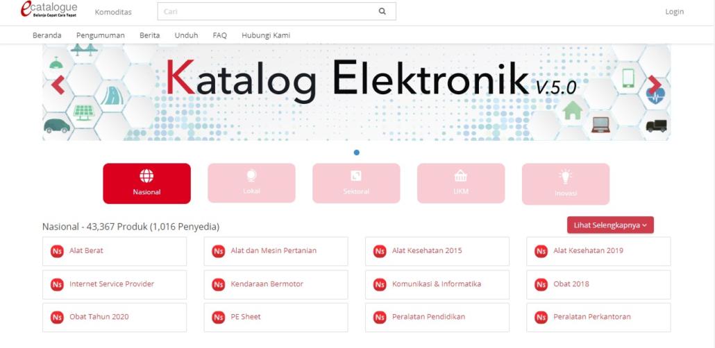 LKPP katalog elektronik versi 5